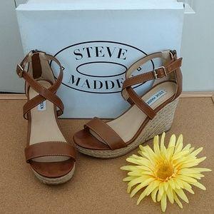 Steve Madden Brown Espadrille Wedge Sandal